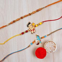 Set Of Pearl Thread Rakhi And ..