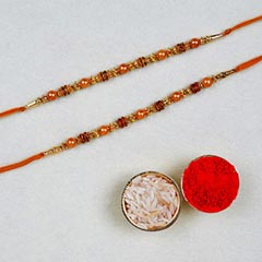Set Of 2 Golden Red Thread Rak..
