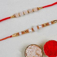 Set Of 2 Designer Pearl Rakhis