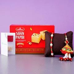 Designer Rakhi Set And Soan Pa..