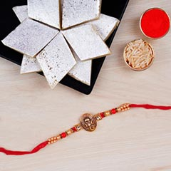 Mini Golden Ganesha Rakhi And ..