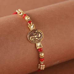 Mini Golden Ganesha Rakhi