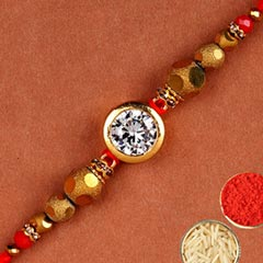 Natural White Stone Rakhi