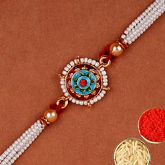 Traditional Meenakari Rakhi