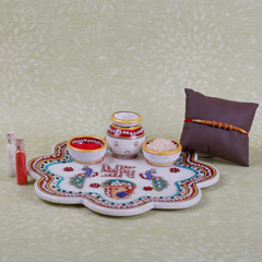 Rakhi And Pooja Thali Combo