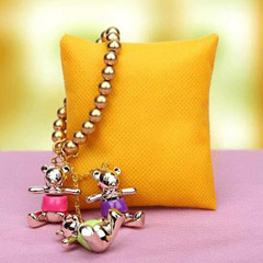 Golden Teddy Rakhi