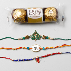 Set Of 3 Designer Rakhis And F..