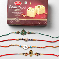 Set Of 4 Spiritual Rakhis And ..