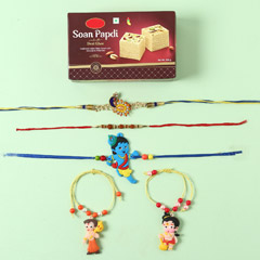 Assorted 5 Rakhi Set And Soan ..