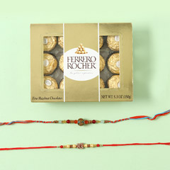 Ferrero Rocher With Rakhi Set