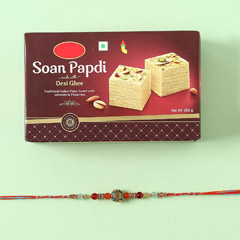 Soan Papdi And Rakhi Combo