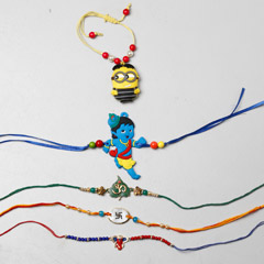 Colorful Rakhi Set Of 5