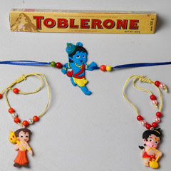 3 Kids Rakhi And Toblerone Cho..
