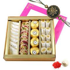 Rakhi with Mixed Sweets Box