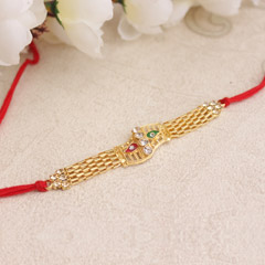 Golden Splendour Rakhi
