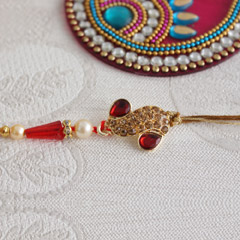 Amazing golden Rakhi