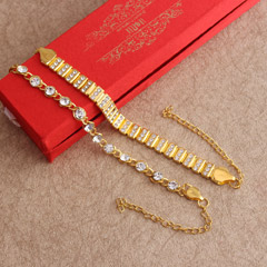 Stylish Golden Bracelet Rakhi ..