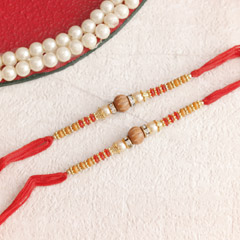 Stunning Beaded Rakhi Set