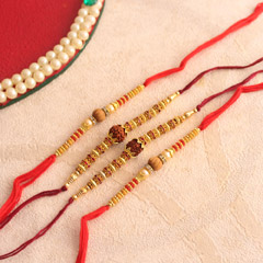 Designer Set of 4 Fancy Rakhi