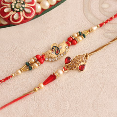 Alluring Golden Metallic Rakhi..