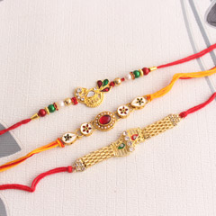 """Love for Gold"" Rakhi Set"