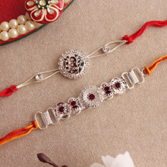 Gorgeous Silver Rakhi – Set of..