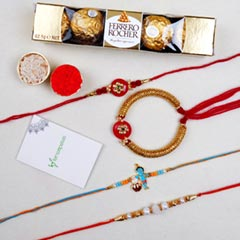 Family Set of 4 Rakhis And Roc..