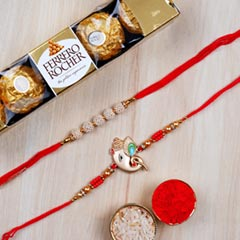 Set of 2 Rakhis And Rochers 5 ..