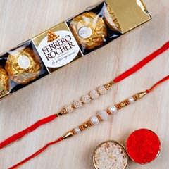 Ferrero Rochers And Rakhi Comb..