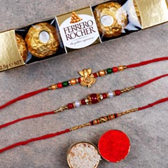 Combo of 3 Rakhis And Rochers