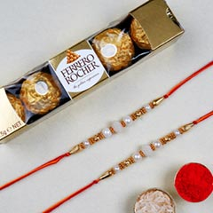 Divine Golden Pearl Thread Rak..