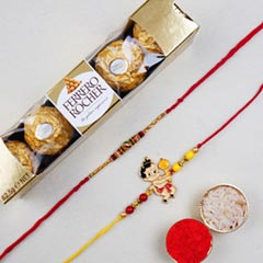 Om And Kids Rakhi With 6 Pcs R..