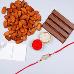 Veera Rakhi With Almonds And K..