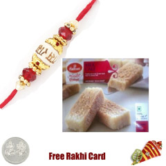 1 Rakhi with Haldiram Milk Cak..