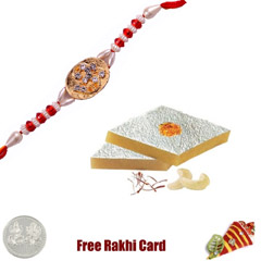 One Rakhi with 225 grams Kaju ..