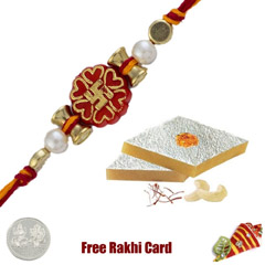 1 Rakhi with Kaju Katri and a ..