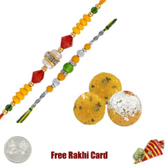 2 Rakhis with 450 grams Boondi..