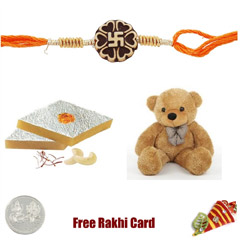 Kaju Katli Soft Toy Rakhi Pack..