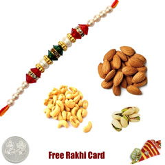 Rakhi with 225 Grams Mixed Dry..