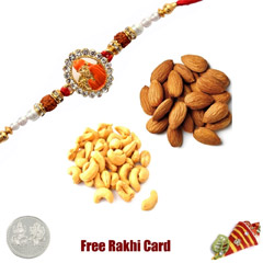 Rakhi with 225 Grams Almonds a..
