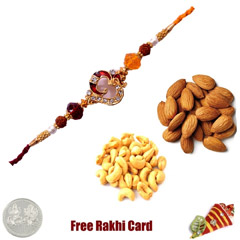 Rakhi with 450 Grams Almonds a..