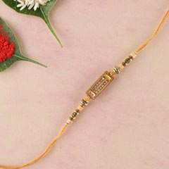 Diamond on Wooden Rakhi
