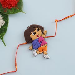 Fancy Girl Cartoon Rakhi