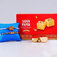 Aum Rakhi Set with Soan Papdi ..