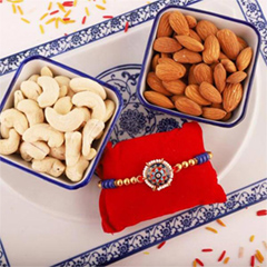 Colorful Rakhi with Cashew Alm..