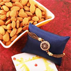 Stone Studded Rakhi and Almond
