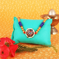 Colorful Moti & Stone Rakhi