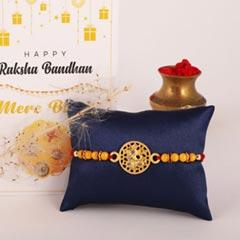 Golden Sparkle Ganesha Rakhi