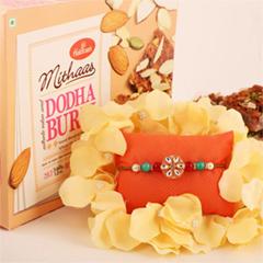 Simply Elegant Floral Rakhi & ..