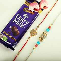 Delicate Rakhis & Cadbury Bar